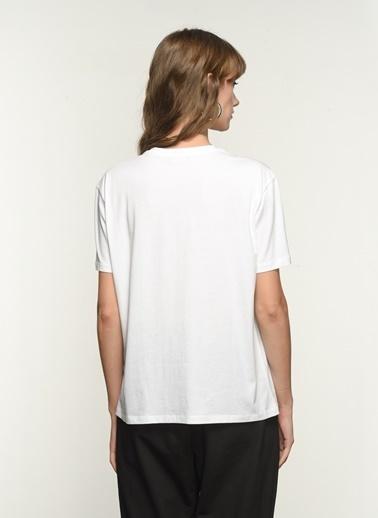 NGSTYLE Kadın Baskılı  Tişört NGKSS21TS0030 Beyaz